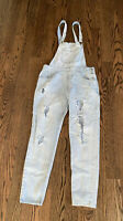 Women's Forever 21 Distressed Denim Jeans Ripped Overalls Size 28