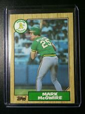 1987 Mark McGwire Topps Rookie RC Oakland Athletics