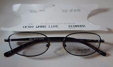 Vera Wang Luxe Wafer MT Black 50/16 Eyeglass Frame New