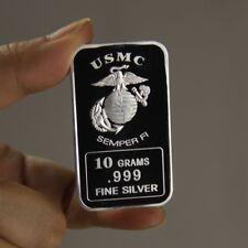 One Shot One Kill  TSB060 oz 10 Grams .999 USMC Sniper Fine Silver Bullion Bar