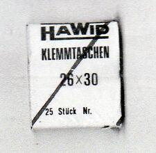 25 Protectores Hawid de 26x30 negros (CM-313)