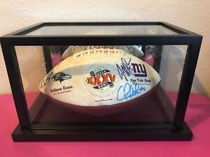 J Taylor HOF Drew Brees J Garcia 15 Signature Total Signed Superbowl XXXV Ball