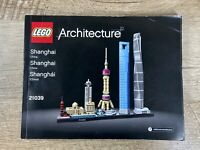 LEGO Architecture Shanghai China 21039 Instruction MANUAL BOOK ONLY
