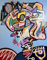 CORBELLIC ART, GENERAL LUV, LARGE 20X16 CANVAS, NEW YORK, pop CULTURE ART, USA