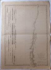 Carte marine nautical map Chili Patagonie XIXème siècle