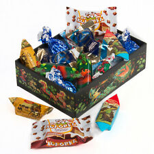 12 oz Russian Candy Mix in a Palekh Box - Assorted Chocolate & Hard Candy