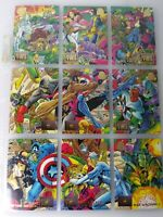 Blood Ties   - Complete Nine Part Set -1994 Marvel Universe Fleer
