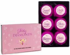 BRUBAKER 'Shiny Diamonds' Boules de bain effervescentes Coffret cadeau 6 Pièces