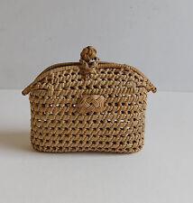 Antique Basket Woven Cane Love Knot Purse Sailor Primitive Novelty