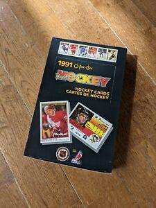 1990-91 O-PEE-CHEE OPC Premier HOCKEY Wax Box (36 Packs) - Jagr, Sundin, Fedorov