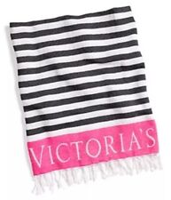 New Victoria's Secret BEACH BLANKET / Limited Edition Cozy Pink Black Soft Deal