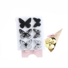 Mariposa transparente claro sello de silicona para el álbum de DIY decoración