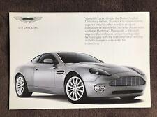 Aston Martin V12 Vanquish Japanese Price Guide Brochure, Hard To Find