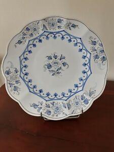 PLAT ROND EN FAIENCE DE NEVERS camaieu bleu, G Montagnon Diam 37 cm
