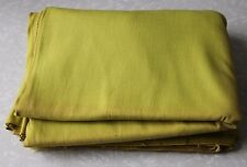 Vintage Cotton Fabric Canvas Chartreuse Green 6Y Craft Cutter Upholstery Scrap