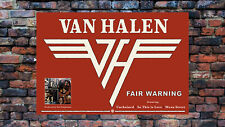 "VAN HALEN poster FAIR WARNING red 1980 logo promo 16"" x 24"" WB cool AF as vinyl"