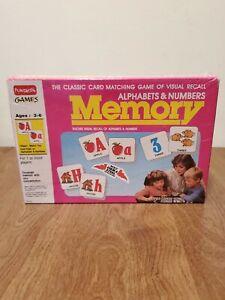 Funskool Games Memory Alphabet & Numbers Vintage 1994 Brand New Sealed Ages 3-6