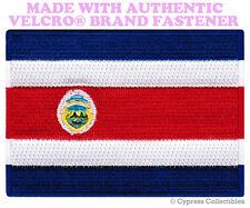 COSTA RICA FLAG PATCH TICO EMBROIDERED SOUVENIR PARCHE w/ VELCRO® Brand Fastener
