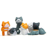 6pcs/set Neko Atsume Cat Cartoon Mini PVC Figure Model Statue