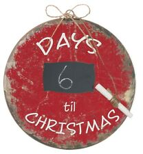 "DAYS TIL CHRISTMAS Christmas Ornament, Metal, 8"" Tall, by Sullivans"