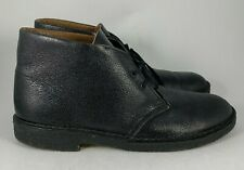 Men's Clarks Originals Desert Boot Black Pebbled Leather Crepe Sole Chukka 10.5