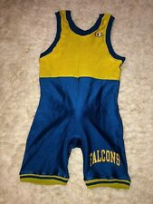 Vintage CHAMPION school team thick snug wrestling gym shorts singlet adult M