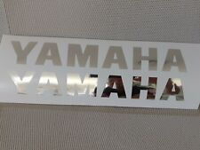 Hochwertige Premium Yamaha Motorrad Aufkleber-Sticker in Chrom