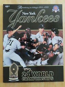 1999 NEW YORK YANKEES 24 World Championships Yearbook JOE DIMAGGIO Remembered