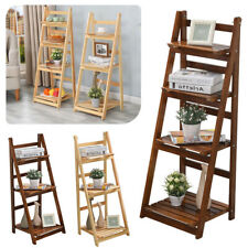 Wooden Ladder Unit Plant Flower Pot Display Stand Book Shelf Wall Rack Storage