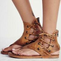 Women Sandals Vintage Summer Women Shoes Gladiator Sandals Flip-Flops