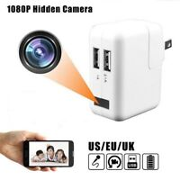 Full HD 1080P USB Wall Charger Mini Spy Motion Hidden Camera Power Adapter BR