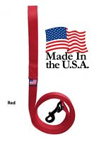 Dog Leash Lead Long Obedience Recall Training Tracker RED Many Lengths USA MADE