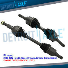 Front CV Axle Drive Shafts for 2008 2009 2010-2012 Honda Accord V6 w/Auto Trans