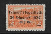 ALBANIA. Yvert nº 144 nuevo y defectuoso