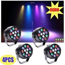 More details for 4pcs rgbw color mixing par can stage light 12 led dmx dj disco wedding party 30w