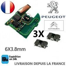 3 Switch bouton clé télécommande Peugeot 106 206 207 307 406 Citroen xsara C3 C5