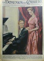 LA DOMENICA DEL CORRIERE N.11 1958 IL ROMANZO DEL PIANISTA POVERO