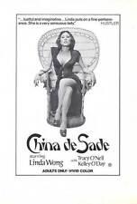 CHINA DE SADE Movie POSTER 27x40 Linda Wong Tracy O'Neil Kelley O'Day
