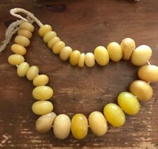 Antique African Amber Bead Strand
