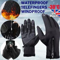 Winter Warm Windproof Waterproof Anti-Slip Thermal Touch Screen Gloves Unisex US