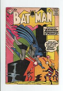 BATMAN #113 VG 4.0 - 1st Appearance of FATMAN - GREAT SCI FI STORY - 1958