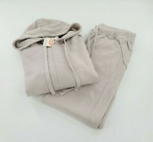 Free People Movement Work It Out Hoodie and Jogger Set Women Size M Grey NWT