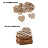 40x pendentifs en bois de coeur creux plat plat avec des trous pour la fête à