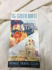 The Golfo Route Laredo-Mexico City Pemex Travel Club Mexico Vintage Brochure