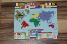 Magnetic World Map Puzzle Play Learn Interactive Geography Fun - NEW