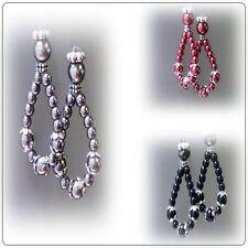 Glass Hoop Fashion Earrings