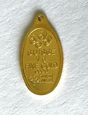 Floral Back Suisse 1g Fine Pure 9999 Yellow Gold Charm