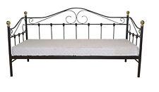 Daybed inkl. Lattenrost Metallbett Bett Bettgestell Tagesbett Schwar 90 x 200 cm
