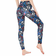 Sports Wear For Women Gym Leggings High Waist Polyester Printed Sports Tights
