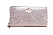 NWT Kate Spade Cameron Street Rose Gold Saffiano Leather Lacey Wallet PWRU5073